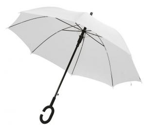 Ombrello Bianco da Sposa Automatico con impugnatura a C cm.102x102x88h
