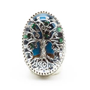 Anello albero vita in argento 9.25