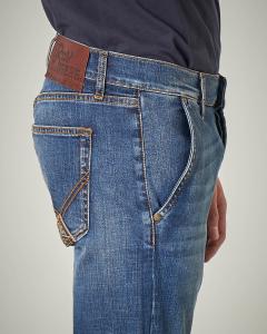 Jeans lavaggio chiaro tasca america
