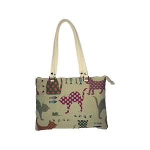 Trendy woman fabric line bag