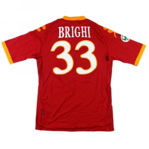 2009-10 Roma Maglia Home #33 Brighi L (Top)
