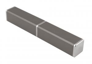 Contenitore in alluminio grigio per penna cm.2,2x2,2x14,8h