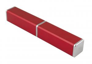Contenitore in alluminio Rosso per penna cm.2,2x2,2x14,8h