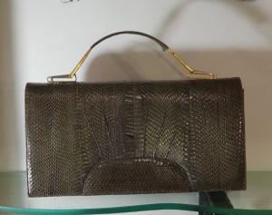 Bellissima borsa di pitone anni '70