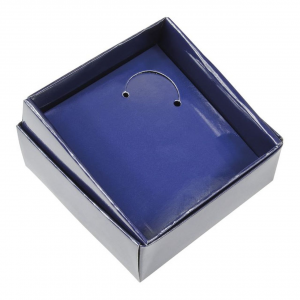 scatola in cartoncino Blu cm.9,5x9,5x3,5h