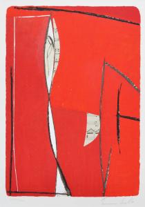 Cascella Tommaso, Composizione2, Serigrafia e Collage, Formato cm 73x53