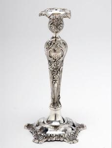 Candeliere modello carlo stile cesellato sheffield cm.35h
