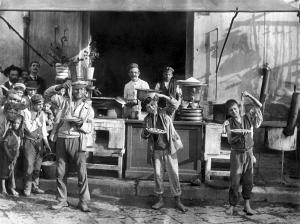 Maccheronai a Napoli, 1900