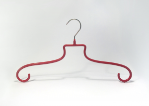 METAL AND RED PVC HANGER