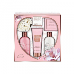 Baylis And Harding Limited Edition Pink Magnolia And Pear Blossom Set 5 Parti 2018