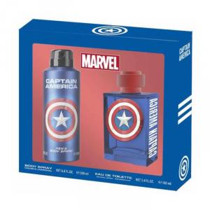 Marvel Captain America Eau De Toilette Spray 100ml Set 2 Parti 2018