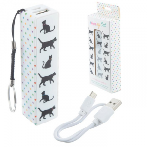 Portachiavi con Power Bank USB - Gattini