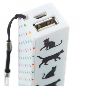 Portachiavi con Power Bank USB - Gattini