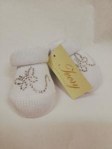 babbucce neonato di Ivory