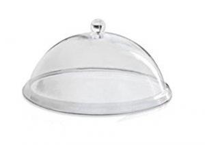 Campana Cloche Coprivivande in policarbonato con pomolo cm.16h diam.31,5