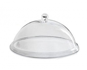 Campana Cloche Coprivivande in policarbonato con pomolo cm.diam.35,5