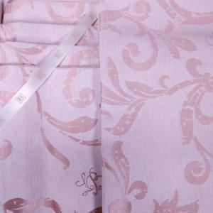 Tovaglia LAURA BIAGIOTTI 150x270 cm in fiandra con 12 tovaglioli Adele rosa