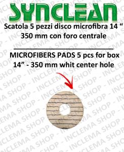 Maschinenpads Mikrofasern in der Mitte gelocht 14.0 zoll 350 mm
