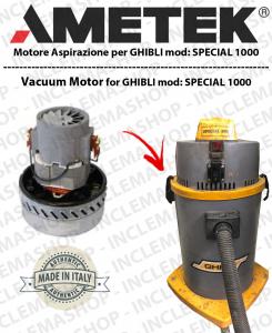 SPECIAL 1000  motor de aspiración Ametek para aspiradora GHIBLI