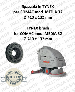 MEDIA 32 spazzola in TYNEX for Scrubber Dryer COMAC