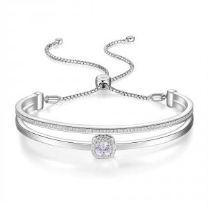 ROSATO-Bracciale in argento rigido da donna
