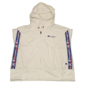 Full zip cappuccio con banda laterale Champion