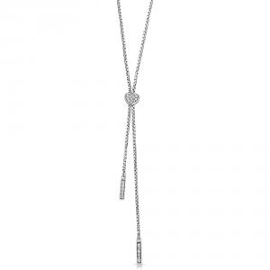 ROSATO-Collana lunga in argento da donna