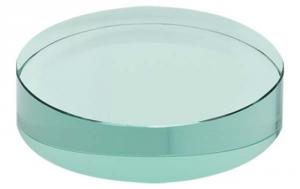 Fermacarte Tondo in vetro verde cm.1,2h diam.10