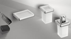 Porta sapone a parete per il bagno serie Lulu Colombo design