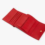 Mini portafoglio donna Coccinelle in pelle martellata rossa