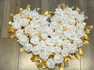 Sacchetto a pois, base bianca e pois gialli