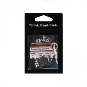 MOLIX Insert Tungsteno Silver 1/32 oz nero - Piombi pesca