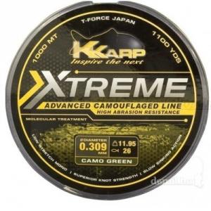K-KARP Filo XTR Camo Weed 1000 m 0,405 mm verde - Fili e filati pesca