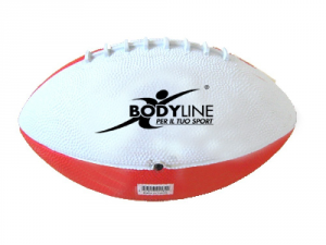 BODYLINE Pallone Miniball Rugby bianco rosso - Pallone Rugby