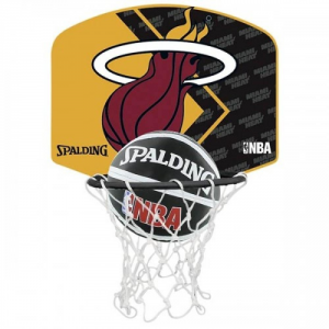 SPALDING Canestro miniball Miami Heat Canestro Attrezzatura Basket SP477590Z