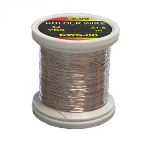 HENDS Filo di Rame Colour Wire 0.18 grigio - Costruzione materiali pesca
