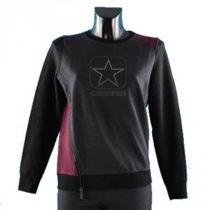CONVERSE ALL STAR Felpa Donna Logo Flock Zip Felpe Abbigliamento Casual 5ID518A