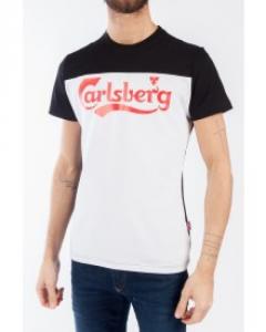 CARLSBERG T-Shirt Uomo Raglan Bicolore T.shirt m/m Casual CBU2214 NERO