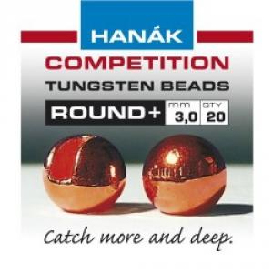 HANAK Testine Tungsten Bead Round Costruzione materiali Pesca BEAD ROUND + COPP