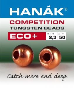 HANAK Testine Tungsteno Bead Eco + 2,3 marrone - Costruzione materiali pesca