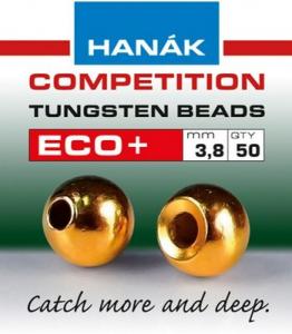 HANAK Testine Tungsteno Bead Eco + 2,3 oro - Costruzione materiali pesca