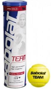 BABOLAT Tubo Palline Team 4 Pezzi Pallina Attrezzatura Tennis 502035-113