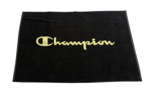 CHAMPION Telo Panca asciugamano palestra nero giallo