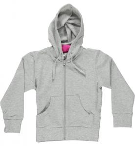 GETFIT Felpa bambina Fitness Hoodie Felpe Abbigliamento Bambino J9F009-GREY
