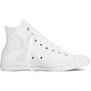 CONVERSE ALL STAR Scarpe Hi Leather Monocrome Scarpa Calzature Casual 1T406