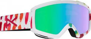 ANON Maschera Snowboard Donna Helix 2.0 + Lente bianco fantasia