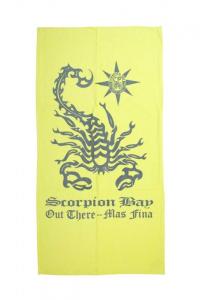 SCORPION BAY Telo Mare Scorpione giallo grigio - Telo Mare