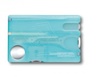 VICTORINOX Trousse SwissCard Nailcare azzurro trasparente