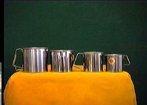 ASTESANI Set 6 Pignatti simplex acciaio inox cm 12 Pentole e preparazione cucina