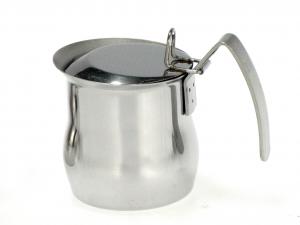 ASTESANI Bricco acciaio inox bombato con coperchio tazzine 6 Colazione